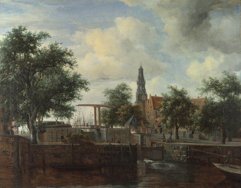 Die Schleuse Haarlem, Amsterdam, Meindert Hobbema von Meesterlijcke Meesters