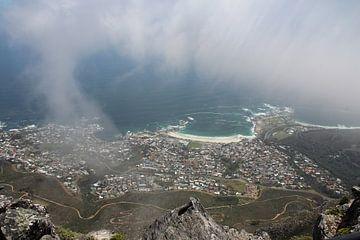 Uitzicht over Kaapstad van Quinta Dijk