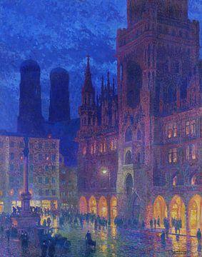 München, Marienplatz, Charles Johann Palmie, 1907 van Atelier Liesjes