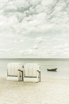 SIERKSDORF Idyllischer Blick auf die Ostsee | Vintage von Melanie Viola
