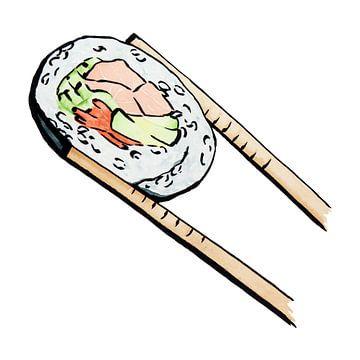 Sushi Uramaki au saumon sur Natalie Bruns
