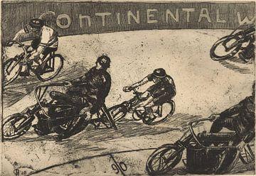 Radrennen hinter Motorrädern, Otto Hanrath, 1928 von Atelier Liesjes