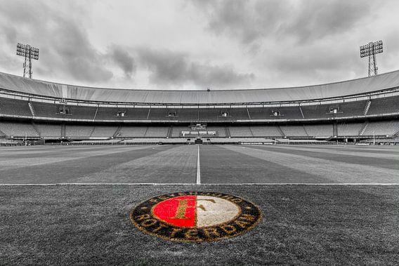 Dichtbij het gras van de Kuip | Feyenoord Rotterdam - 2 van Tux Photography