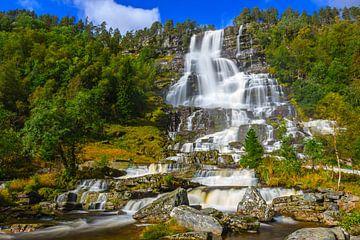 Tvindefossen, Noorwegen van Henk Meijer Photography