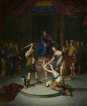Het oordeel van Salomo, Willem van Mieris sur