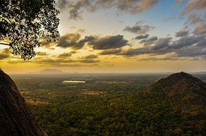 Het bergen landschap van Sri Lanka van