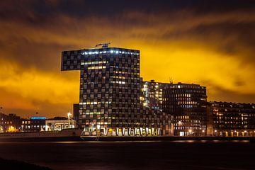 Zonsondergang Rotterdam von Rene Van Putten