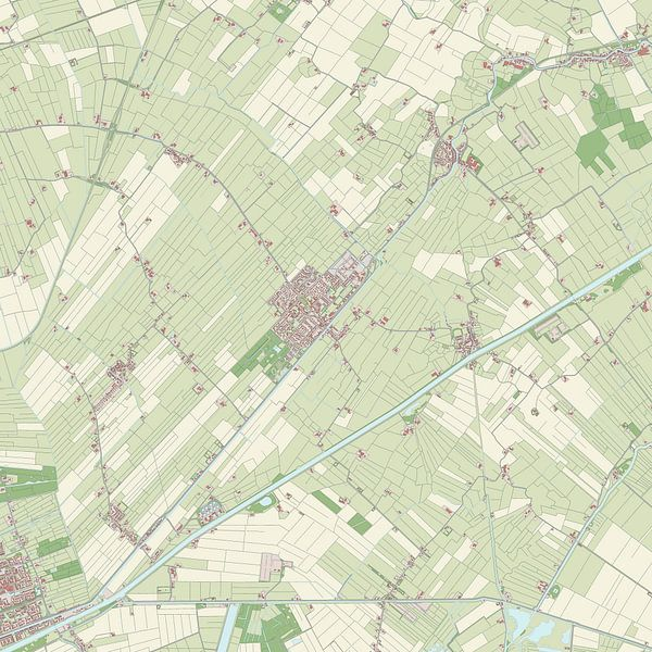Kaart vanTen Boer
