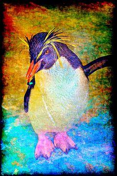 Rotsspringer-pinguïn van Leopold Brix