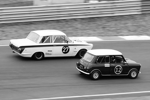 Mini Cooper - Lotus Cortina van Roald Rakers