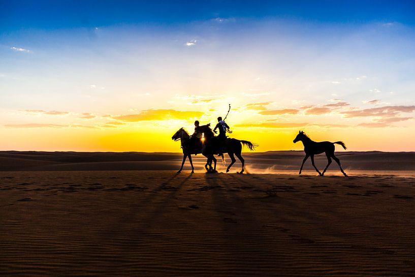 Dessert Horseback Riding Egypt  van Joep Oomen