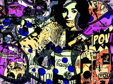 Points bleus - POP Art