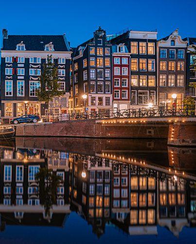 Grachtenpanden aan de Singel te Amsterdam
