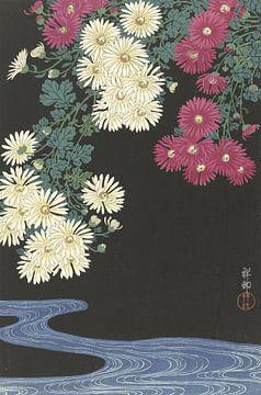 Chrysanten en water, Ohara Koson