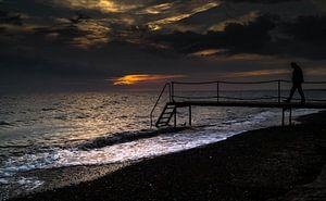 Verzonken.... in zee en in gedachten