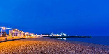 Quai de parade sud à Portsmouth la nuit sur Werner Dieterich
