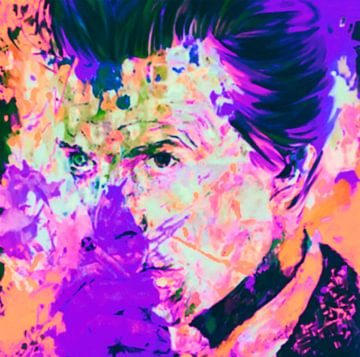 David Bowie Lila Vintage Summer Splash Pop Art PUR von Felix von Altersheim