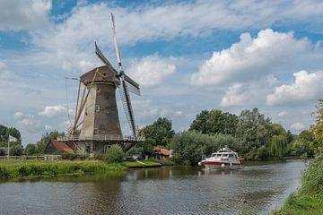 Haastrechtse Molen aan de Hollandsche IJssel in Gouda von Rinus Lasschuyt Fotografie