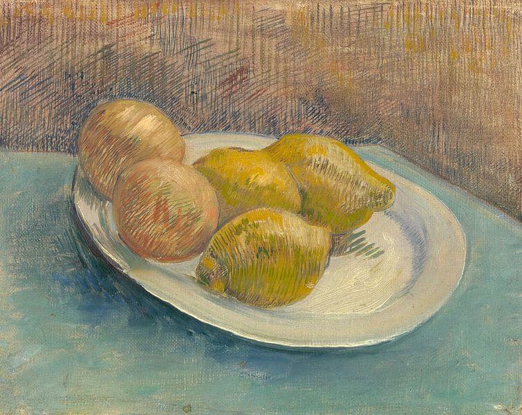Dish with Citrus Fruit, Vincent van Gogh von Meesterlijcke Meesters