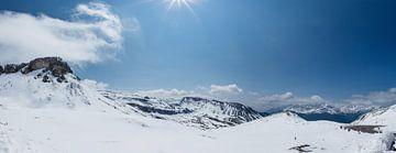 Schneelandschaft Großglockner Hoghalpstrasse, Österreich von Martin Stevens
