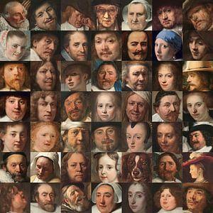 Visages de l'âge d'or - Collage de portraits de Néerlandais