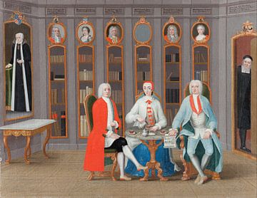 Die Familie Stenbock in ihrer Bibliothek in Rånäs, Carl Fredrik Svan