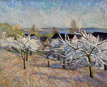 Bloeiende bomen (bloesem in de waard), THEO VON BROCKHUSEN, ca 1910 van Atelier Liesjes