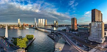 Zonsondergang in Rotterdam van Midi010 Fotografie