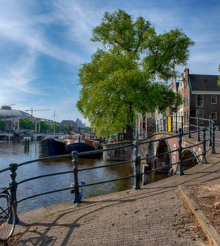 Brug over Keizersgracht bij de Amstel van Peter Bartelings Photography