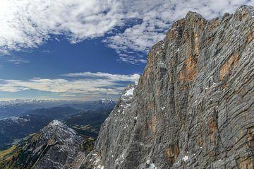vergezicht vanaf Dachstein. van