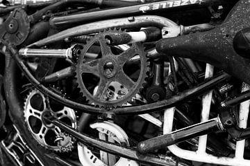 Bike Deconstructed - Fiets Onderdelen Print van MDRN HOME