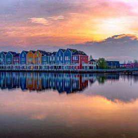 Regenbooghuizen in Houten, Nederland van Rene Siebring