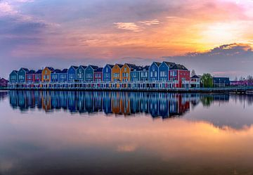 Les maisons arc-en-ciel à Houten, Pays-Bas sur Rene Siebring