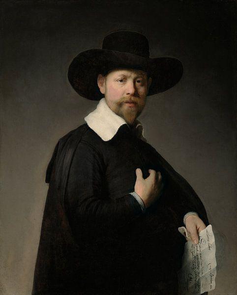 Porträt von Marten Looten, Rembrandt Harmensz. van Rijn von Rembrandt van Rijn