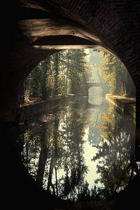 De Paulusbrug in Utrecht over de Nieuwegracht in de Herfst (1) van