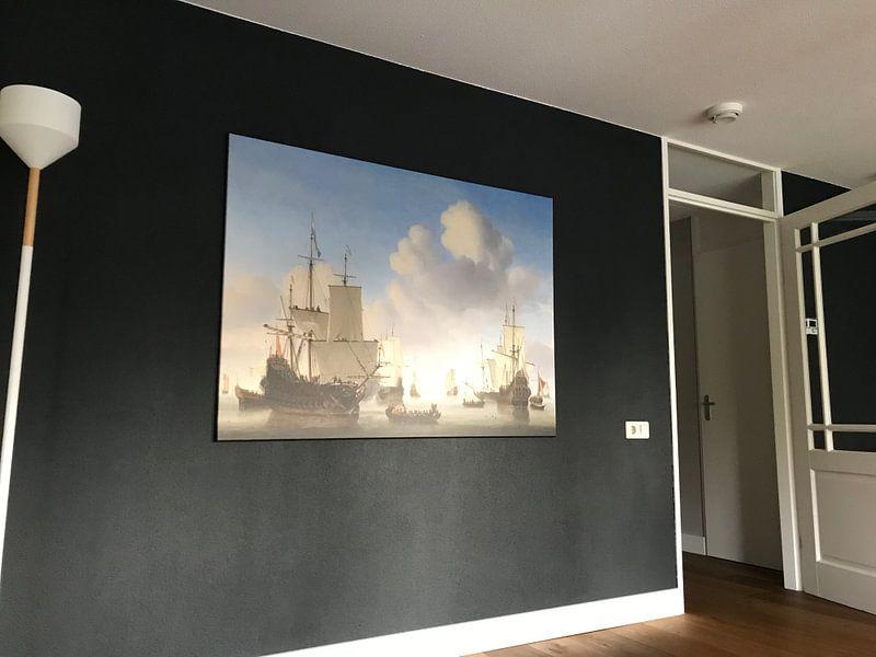Klantfoto: Hollandse schepen op een kalme zee
