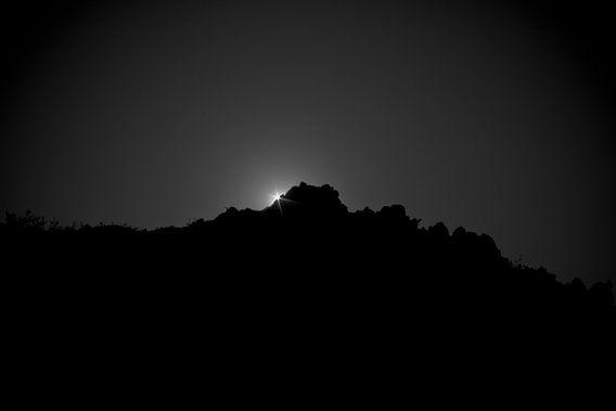 Zonsondergang in Nevada