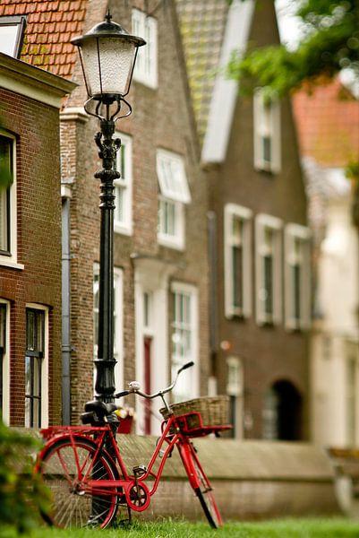 Rode fiets, Muiden van Sybren Visser