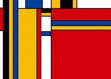 Style Piet Mondrian sur Marion Tenbergen