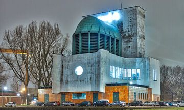 Maastunnel-gebouw op Rotterdam-zuid van