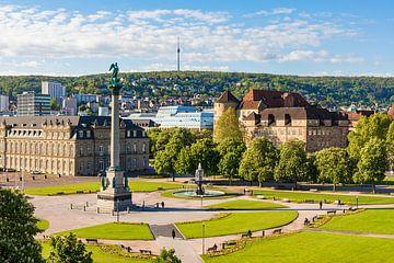 Schlossplatz à Stuttgart sur Werner Dieterich