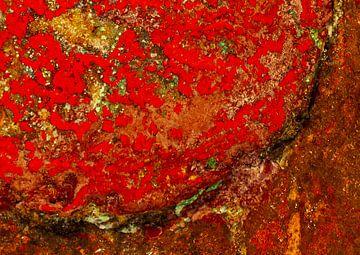 Rode zone met structuren van Klaus Heidecker