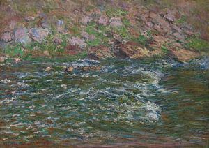 Rapids op de Petite Creuse in Fresselines, Claude Monet van Meesterlijcke Meesters