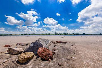 Stenen in rivierbedding van Tony Buijse
