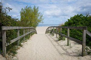 De weg naar het strand van