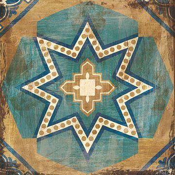 Tuiles marocaines bleu VII, Cleonique Hilsaca sur Wild Apple