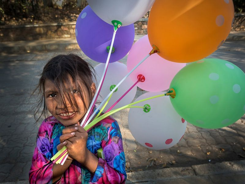 Hartbrekende ballonnen verkoopster van Ton Buijs