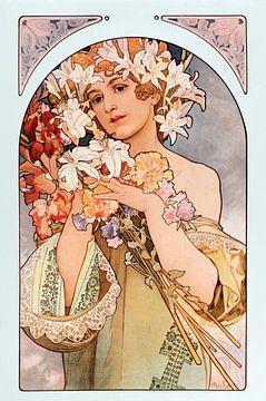 La fleur - Alphonse Mucha
