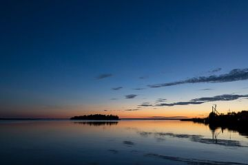 Sonnenuntergang Lauwersmeer von Irene Damminga
