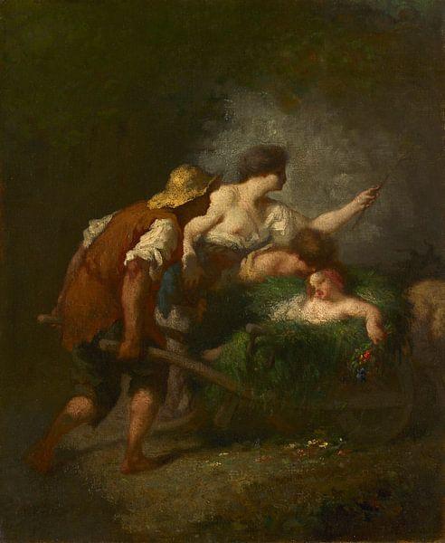 Rückkehr von den Feldern, Jean-François Millet von Meesterlijcke Meesters